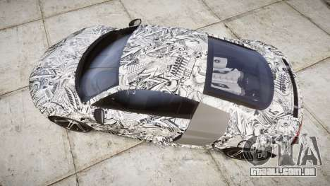 Audi R8 plus 2013 HRE rims Sharpie para GTA 4 vista direita