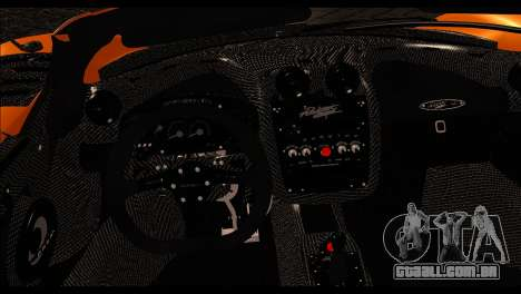 Pagani Zonda Cinque Roadster para GTA San Andreas traseira esquerda vista