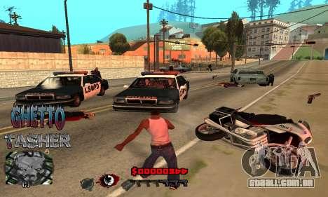 C-HUD Ghetto Tawer para GTA San Andreas terceira tela