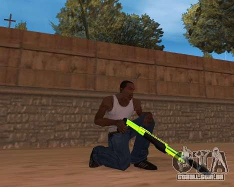 Chrome Green Weapon Pack para GTA San Andreas segunda tela