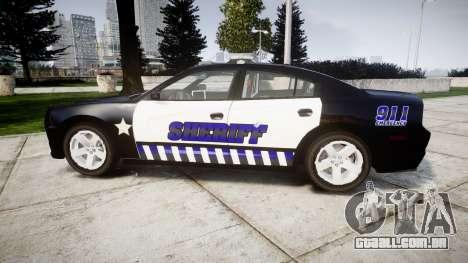 Dodge Charger RT 2014 Sheriff [ELS] para GTA 4 esquerda vista