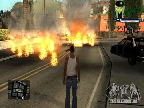 C-HUD Grove Street Gang para GTA San Andreas terceira tela