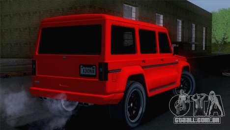 GTA 5 Benefactor Dubsta para GTA San Andreas esquerda vista