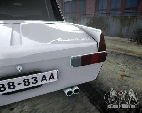 Moskvich 412 para GTA 4 vista interior