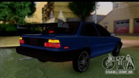 Toyota Corolla 1990 4-Door Sedan para GTA San Andreas esquerda vista