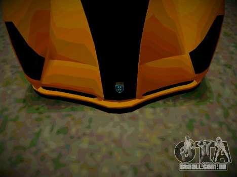 Cheetah из GTA 5 para GTA San Andreas traseira esquerda vista