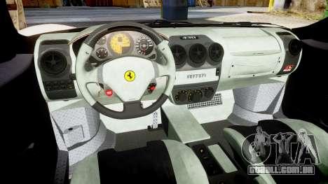 Ferrari F430 Scuderia 2007 plate F430 para GTA 4 vista interior