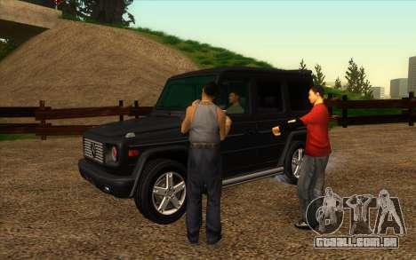 Estrada da garagem do Sigea para GTA San Andreas