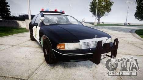 Chevrolet Caprice 1991 Highway Patrol [ELS] para GTA 4