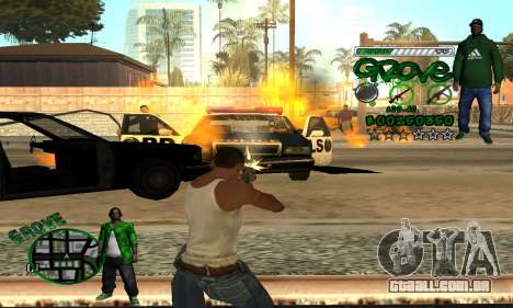 C-HUD Groove para GTA San Andreas quinto tela