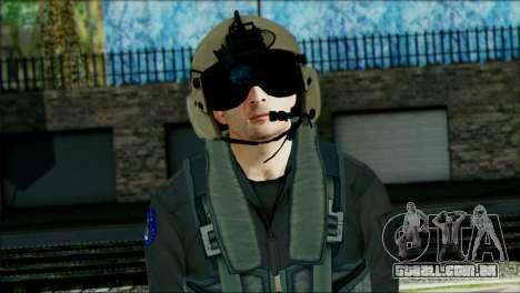 USA Helicopter Pilot from Battlefield 4 para GTA San Andreas terceira tela