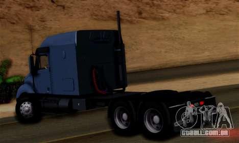 Freightliner Columbia para GTA San Andreas esquerda vista
