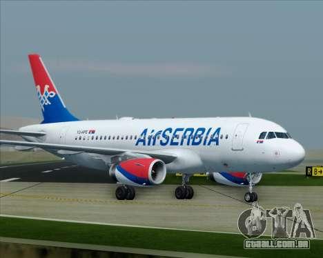 Airbus A319-100 Air Serbia para GTA San Andreas interior