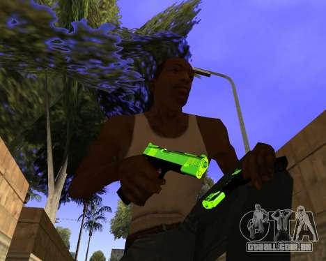 Chrome Green Weapon Pack para GTA San Andreas por diante tela