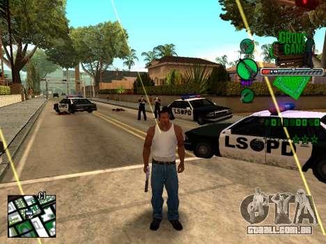 C-HUD Grove Street TAWER para GTA San Andreas segunda tela