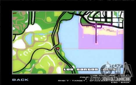 Estrada da garagem do Sigea para GTA San Andreas sétima tela