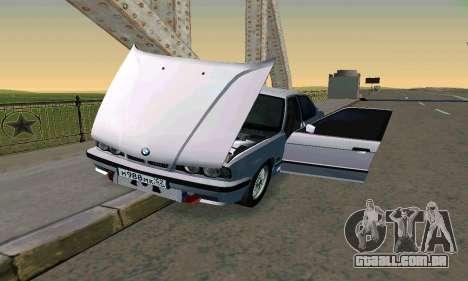 BMW 525 Turbo para vista lateral GTA San Andreas