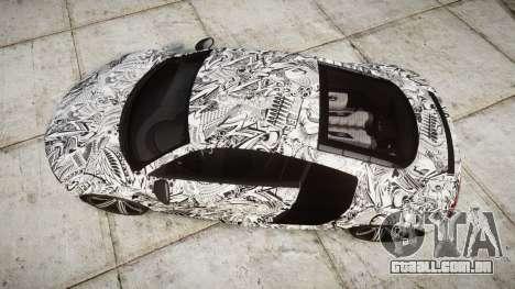 Audi R8 plus 2013 Wald rims Sharpie para GTA 4 vista direita