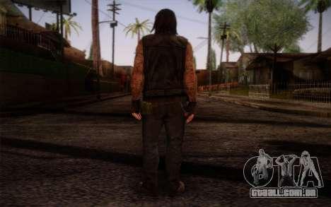 Francis from Left 4 Dead Beta para GTA San Andreas segunda tela
