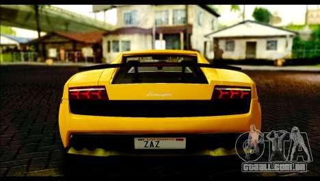 Lamborghini Gallardo LP 570-4 para GTA San Andreas vista direita