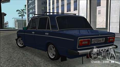 ВАЗ 2106 estilo russo 2.0 para GTA San Andreas traseira esquerda vista