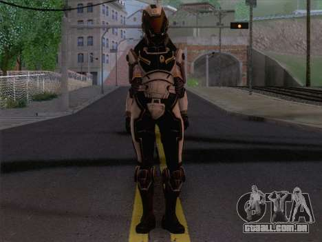 Cerberus Female Armor from Mass Effect 3 para GTA San Andreas