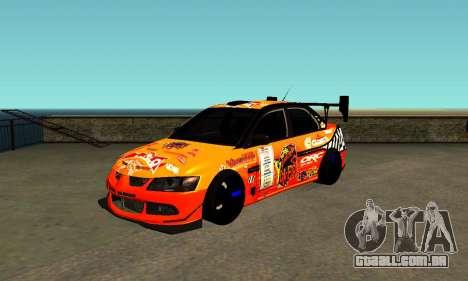 Mitsubishi Lancer Evo 9 Kumakubo Team Orange para GTA San Andreas
