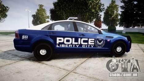 Chevrolet Caprice 2012 LCPD [ELS] v1.1 para GTA 4 esquerda vista