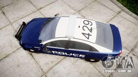 Chevrolet Caprice 2012 LCPD [ELS] v1.1 para GTA 4 vista direita