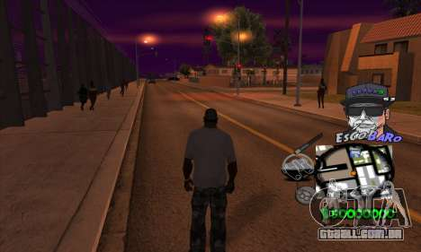 C-HUD by Travis Escobaro and Matthew Escobaro para GTA San Andreas terceira tela
