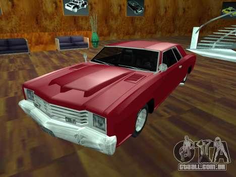 Buccaneer Turbo para GTA San Andreas vista interior