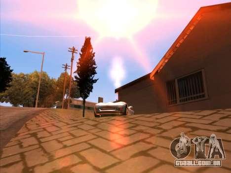 Sunset ENB para GTA San Andreas por diante tela
