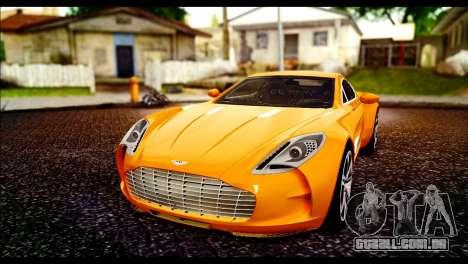 Aston Martin One-77 Black para GTA San Andreas