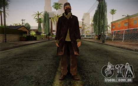 Aiden Pearce from Watch Dogs v2 para GTA San Andreas