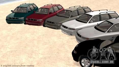 Daewoo Nubira eu Vagão CDX-NOS de 1999 para GTA San Andreas interior