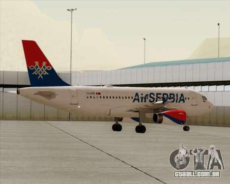 Airbus A319-100 Air Serbia para GTA San Andreas vista inferior