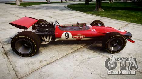 Lotus Type 49 1967 [RIV] PJ9-10 para GTA 4 esquerda vista