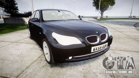 BMW 525d E60 2009 Police [ELS] Unmarked para GTA 4