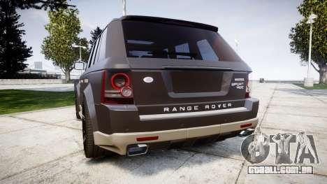 Range Rover Sport Kahn Tuning 2010 para GTA 4 traseira esquerda vista