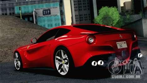 Ferrari F12 Berlinetta 2013 para GTA San Andreas esquerda vista