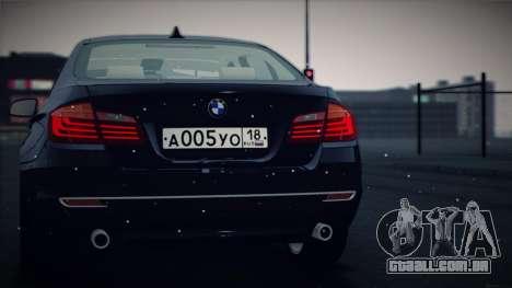 BMW 535i F10 para GTA San Andreas vista traseira