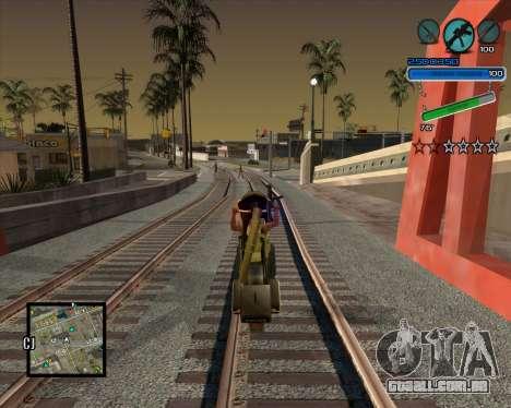 Excelente C-HUD para GTA San Andreas terceira tela
