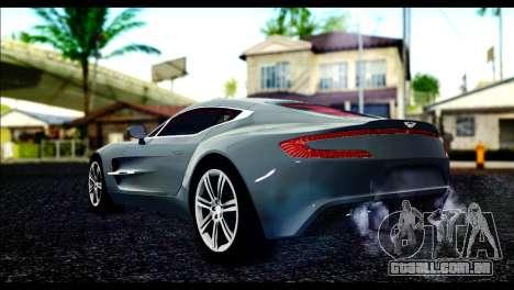 Aston Martin One-77 Red and Black para GTA San Andreas esquerda vista