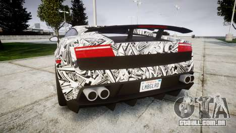 Lamborghini Gallardo LP570-4 Superleggera 2011 S para GTA 4 traseira esquerda vista
