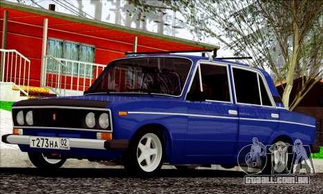 ВАЗ 2106 estilo russo para GTA San Andreas esquerda vista