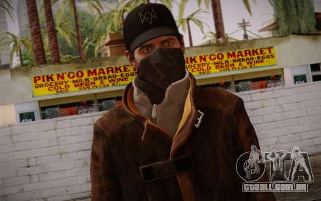 Aiden Pearce from Watch Dogs v4 para GTA San Andreas terceira tela