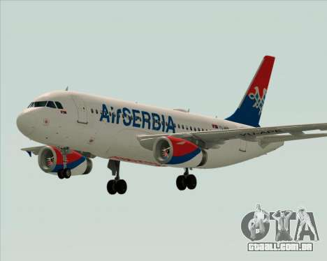 Airbus A319-100 Air Serbia para GTA San Andreas vista superior