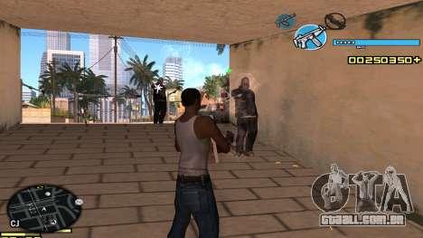 C-HUD Blue para GTA San Andreas terceira tela