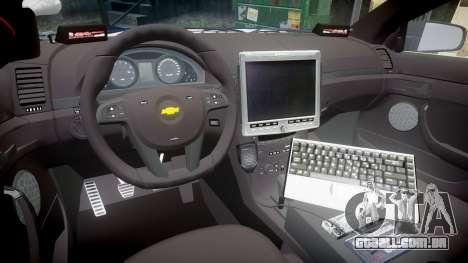 Chevrolet Caprice 2012 LCPD [ELS] v1.1 para GTA 4 vista de volta