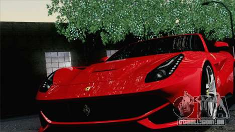 Ferrari F12 Berlinetta 2013 para GTA San Andreas vista traseira